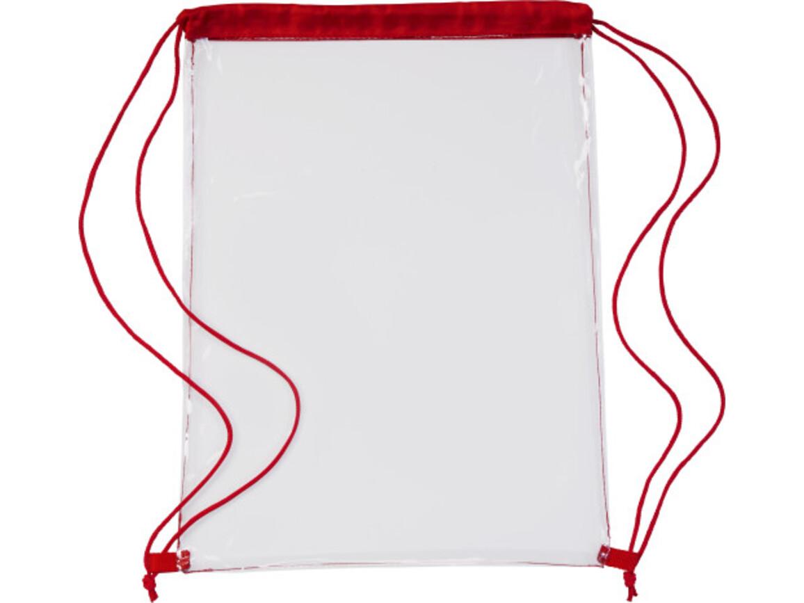 Schuh-/Rucksack (Turnbeutel) 'Gymnastic' aus PVC – Rot bedrucken, Art.-Nr. 008999999_0927