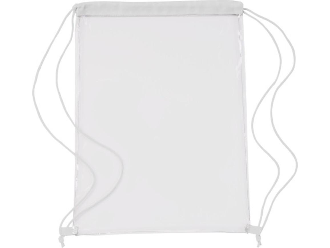 Schuh-/Rucksack (Turnbeutel) 'Gymnastic' aus PVC – Weiß bedrucken, Art.-Nr. 002999999_0927