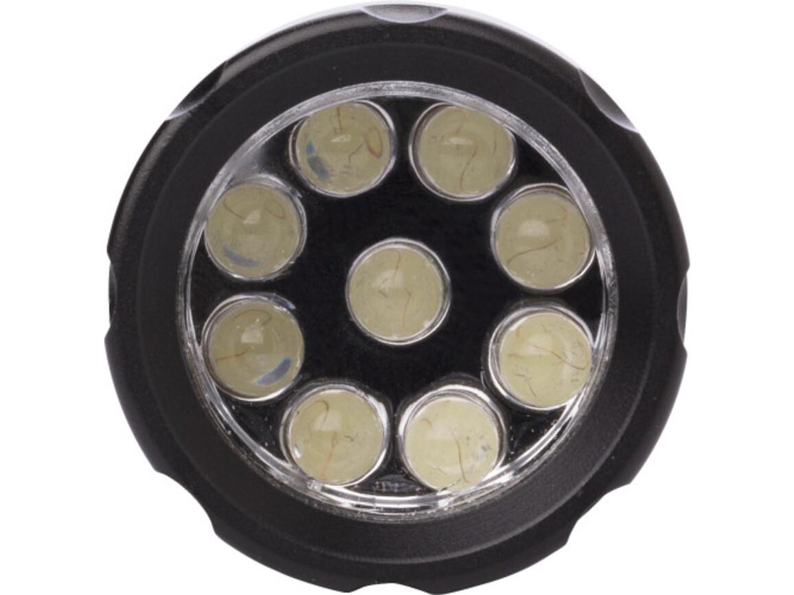 LED-Taschenlampe 'Neapel' aus Metall – Schwarz bedrucken, Art.-Nr. 001999999_0957