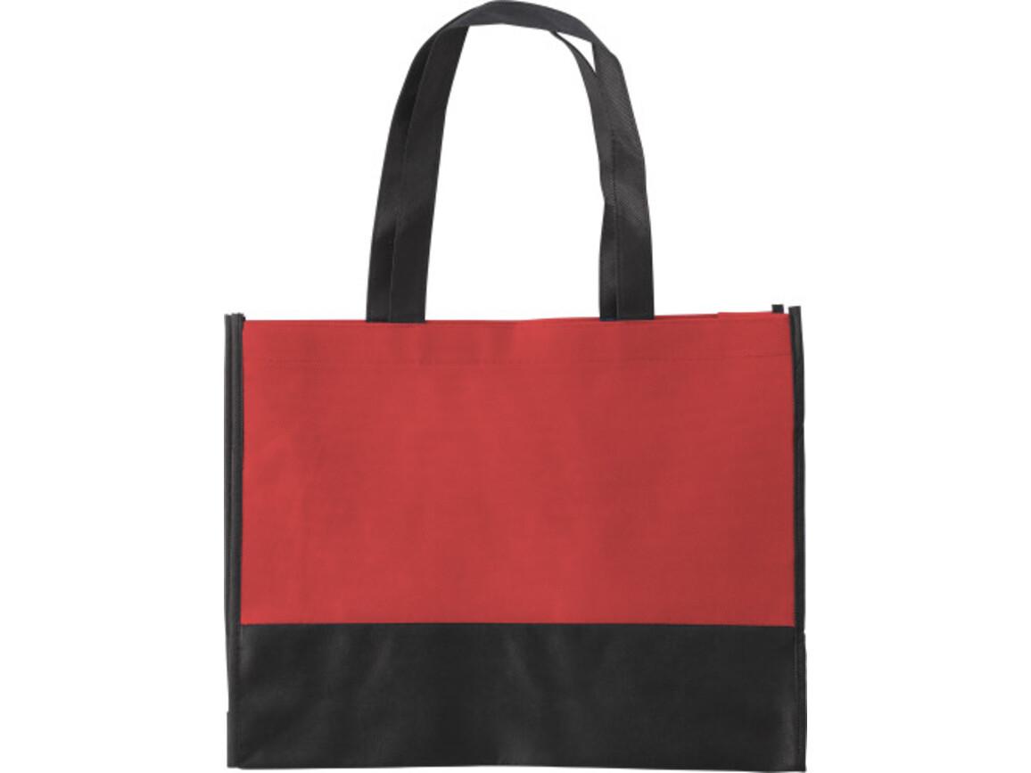 Einkaufstasche 'St. Gallen' aus Non-Woven – Rot bedrucken, Art.-Nr. 008999999_0971