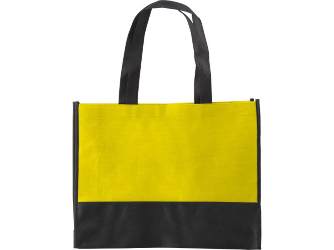 Einkaufstasche 'St. Gallen' aus Non-Woven – Gelb bedrucken, Art.-Nr. 006999999_0971