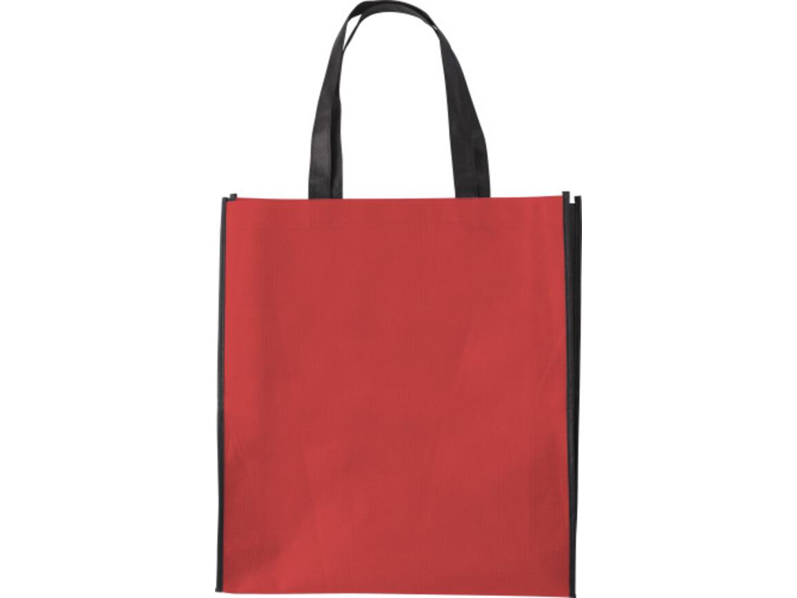 Einkaufstasche 'Zürich' aus Non-Woven – Rot bedrucken, Art.-Nr. 008999999_0972