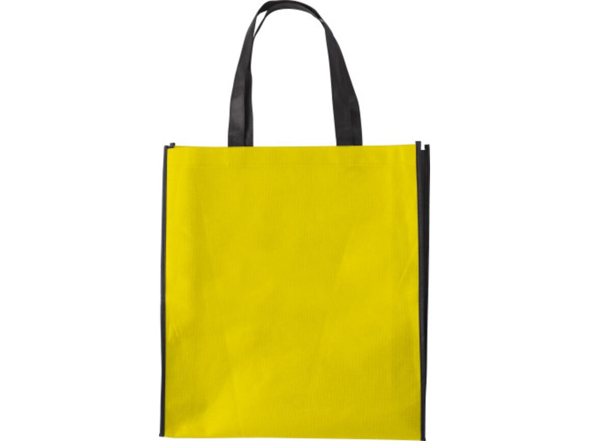 Einkaufstasche 'Zürich' aus Non-Woven – Gelb bedrucken, Art.-Nr. 006999999_0972