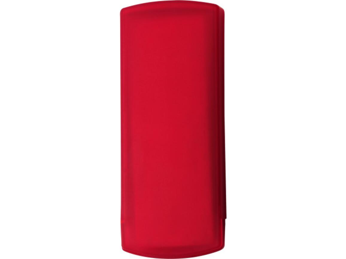 Pflasterbox 'Pocket' aus Kunststoff – Rot bedrucken, Art.-Nr. 008999999_1020