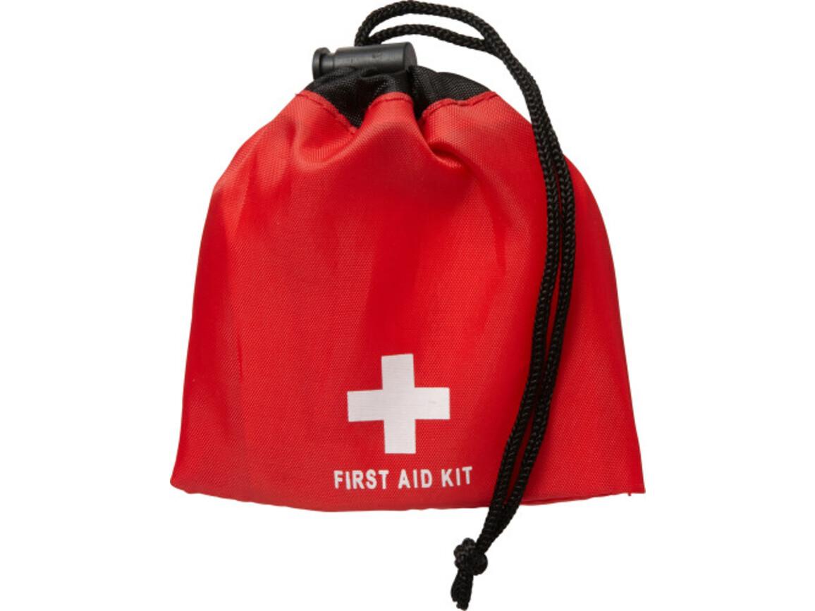 Notfall-Set 'Matchsack' aus Polyester – Rot bedrucken, Art.-Nr. 008999999_1047