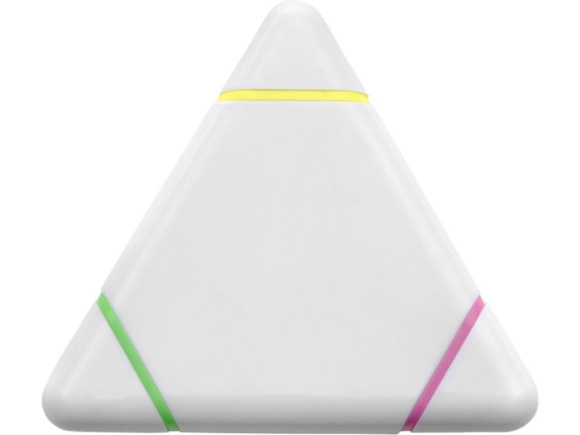 Textmarker 'Triple' aus Kunststoff – Weiß bedrucken, Art.-Nr. 002999999_1052