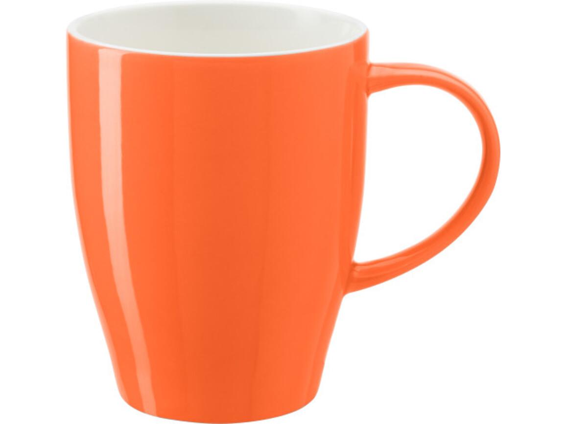 Becher 'Paris' aus Porzellan – Orange bedrucken, Art.-Nr. 007999999_1124