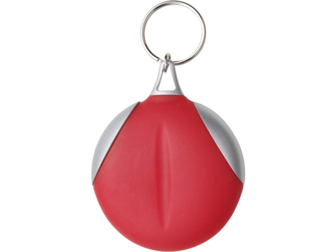 Schlüsselanhänger 'Clear' aus Kunststoff – Rot bedrucken, Art.-Nr. 008999999_1152