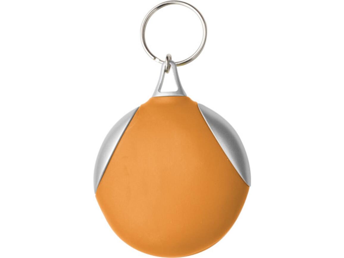 Schlüsselanhänger 'Clear' aus Kunststoff – Orange bedrucken, Art.-Nr. 007999999_1152