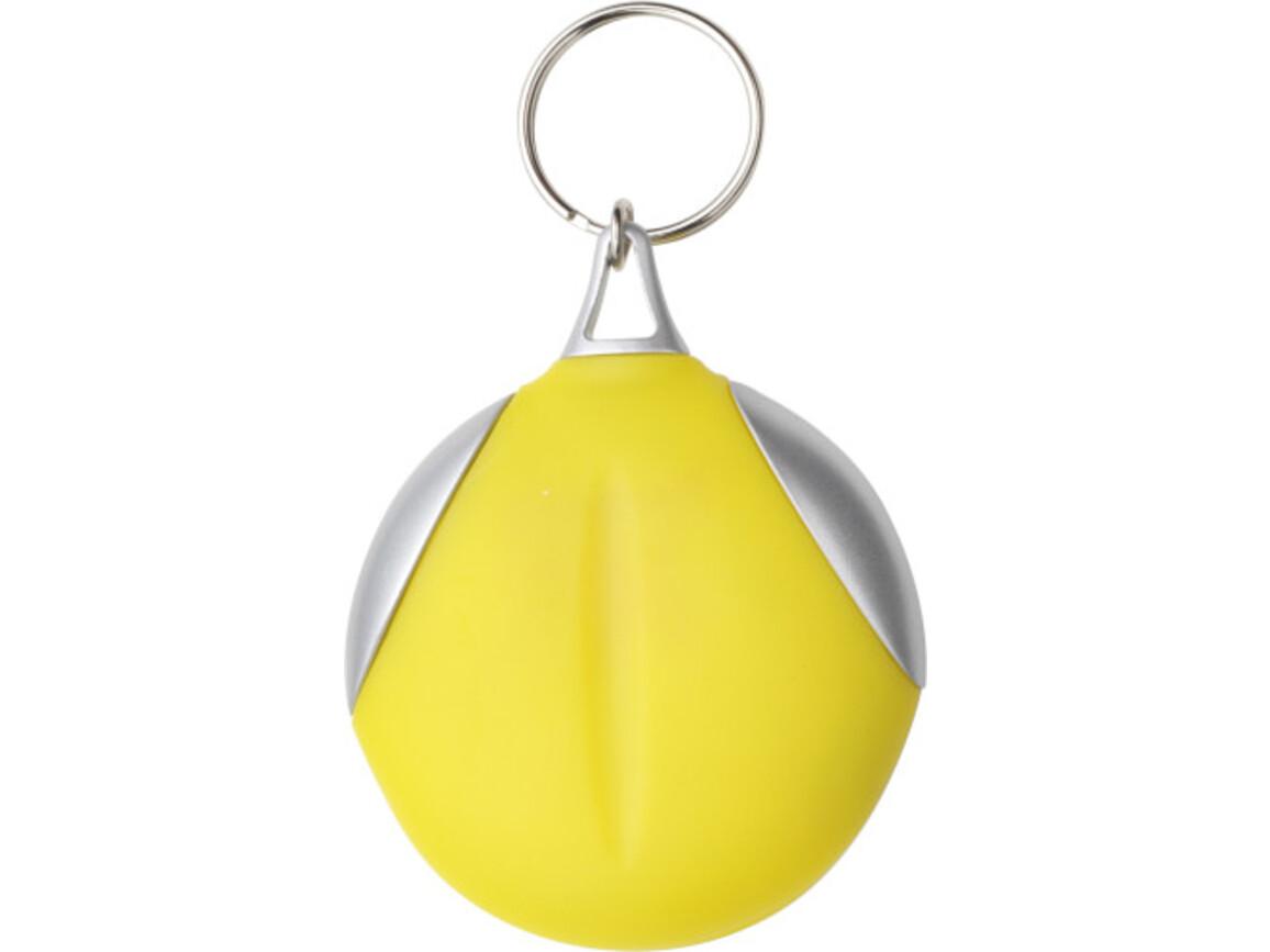 Schlüsselanhänger 'Clear' aus Kunststoff – Gelb bedrucken, Art.-Nr. 006999999_1152