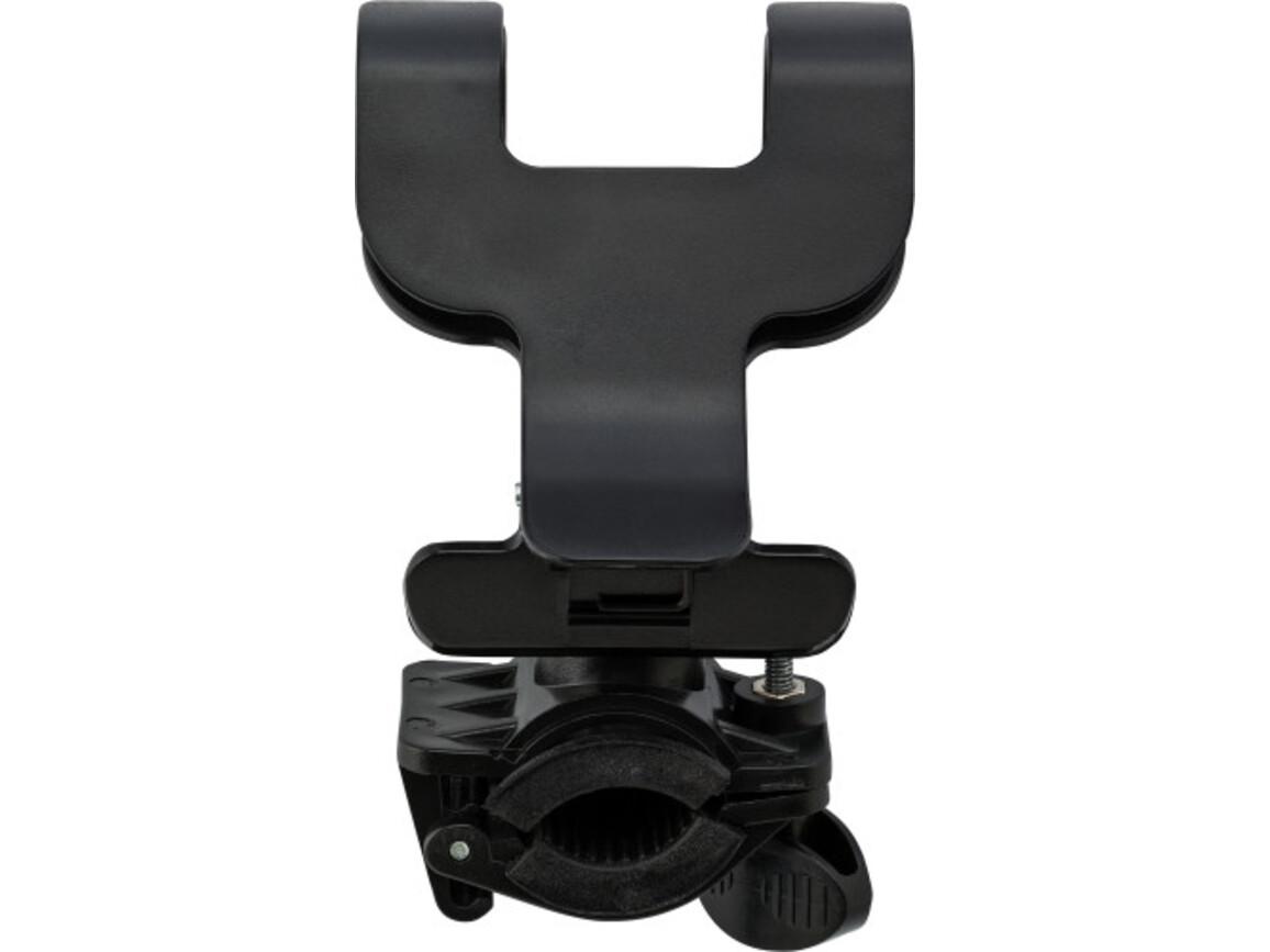 Telefonhalter 'Biker' aus Kunststoff – Schwarz bedrucken, Art.-Nr. 001999999_1165