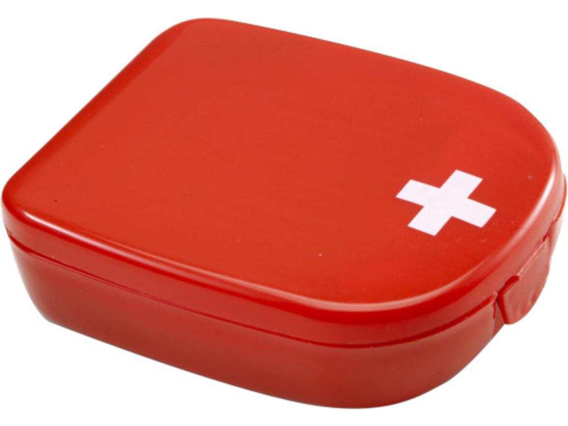 Notfall-Set 'Pocket' aus Kunststoff – Rot bedrucken, Art.-Nr. 008999999_1387