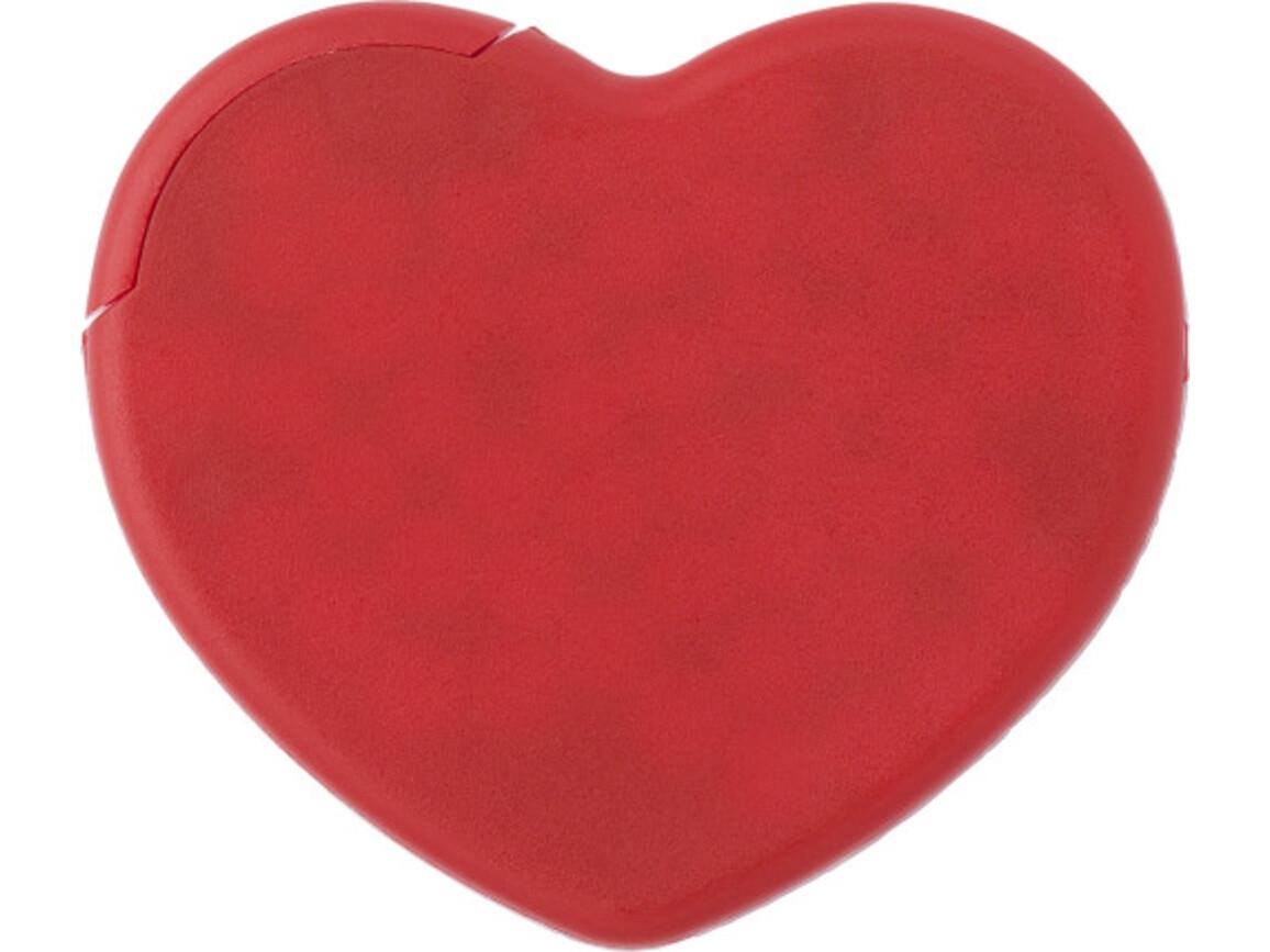 Pfefferminzbonbons 'Heart' aus Kunststoff – Rot bedrucken, Art.-Nr. 008999999_1484