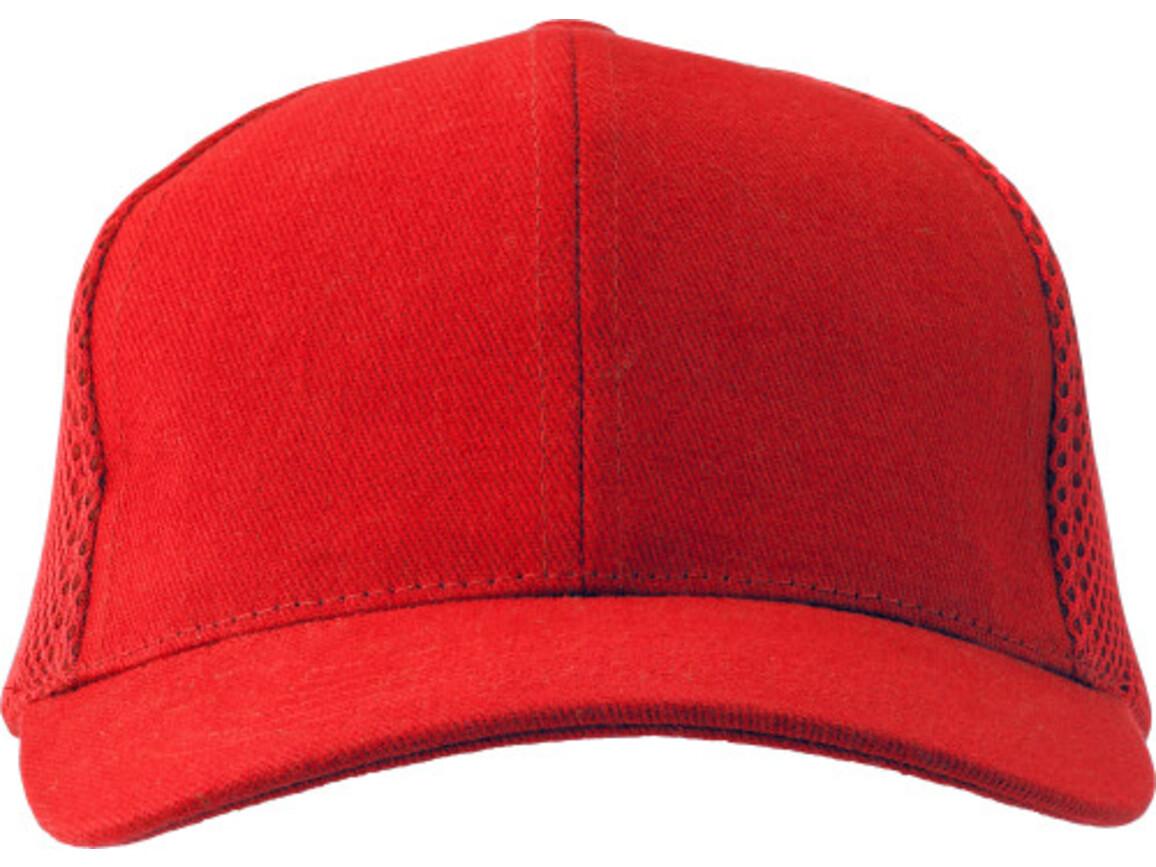 Baseball-Cap 'Montain' aus Heavy Brushed Baumwolle – Rot bedrucken, Art.-Nr. 008999999_1587