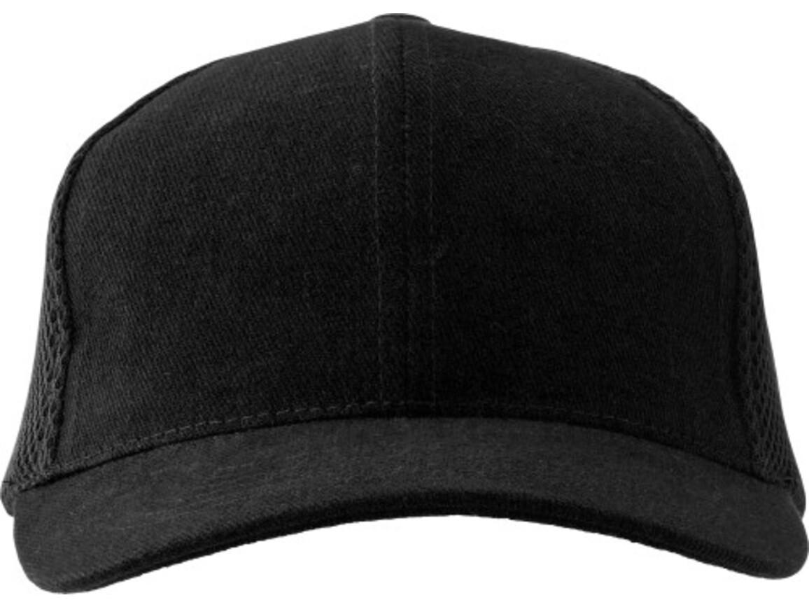 Baseball-Cap 'Montain' aus Heavy Brushed Baumwolle – Schwarz bedrucken, Art.-Nr. 001999999_1587
