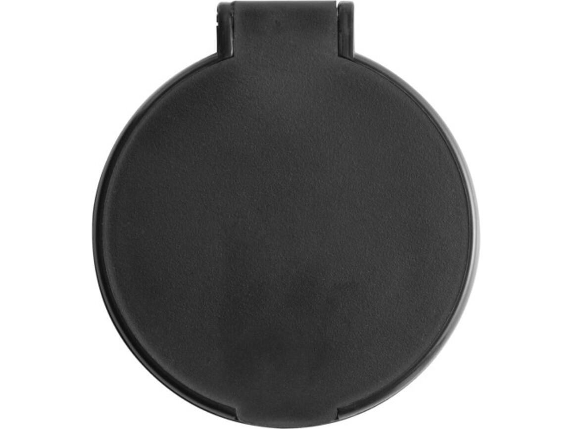 Kosmetikspiegel 'Pocket' aus Kunststoff – Schwarz bedrucken, Art.-Nr. 001999999_1658