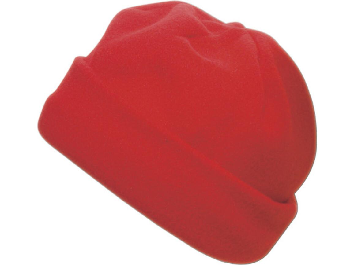 Fleece-Mütze 'Brixen' aus Polyester-Fleece – Rot bedrucken, Art.-Nr. 008999999_1741