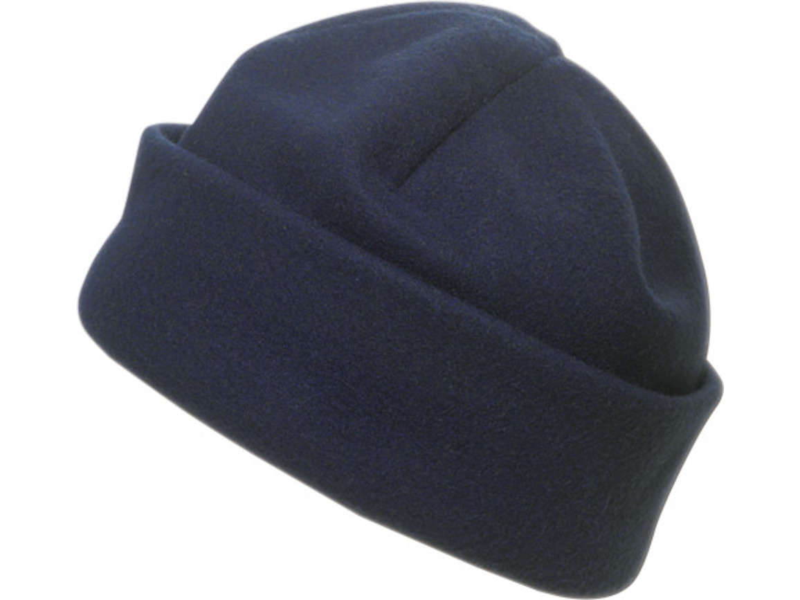 Fleece-Mütze 'Brixen' aus Polyester-Fleece – Blau bedrucken, Art.-Nr. 005999999_1741