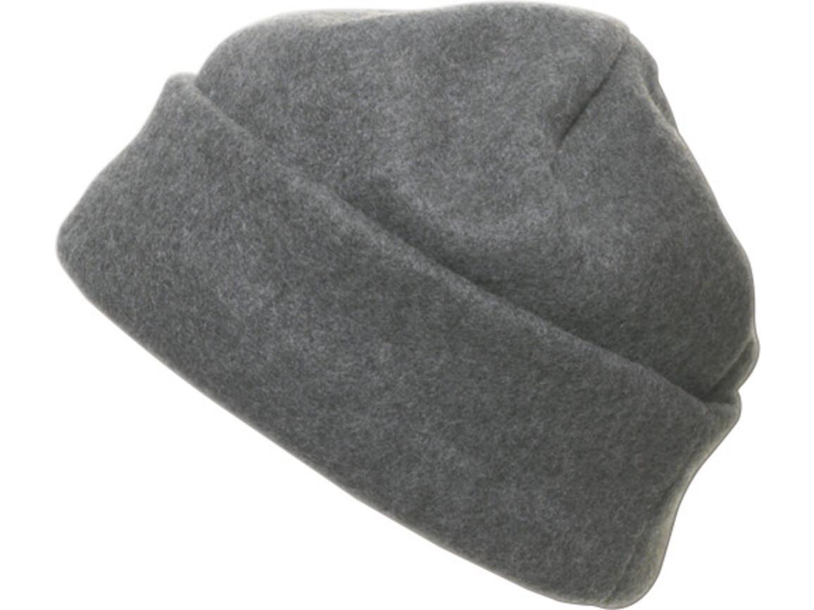 Fleece-Mütze 'Brixen' aus Polyester-Fleece – Grau bedrucken, Art.-Nr. 003999999_1741