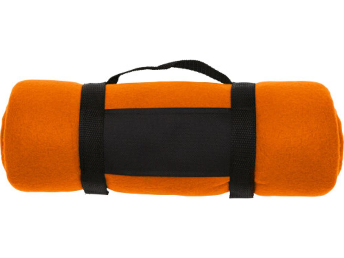 Fleece-Picknickdecke  'Central' – Orange bedrucken, Art.-Nr. 007999999_1761