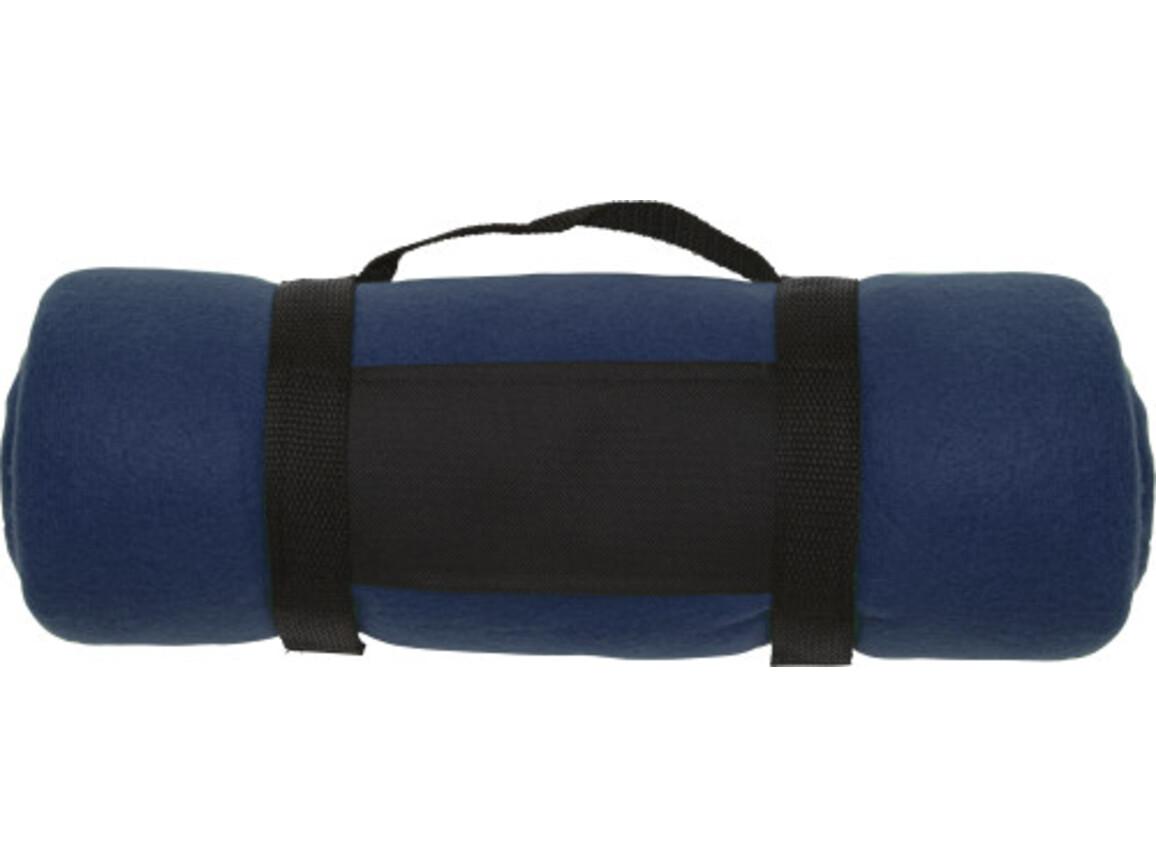 Fleece-Picknickdecke  'Central' – Blau bedrucken, Art.-Nr. 005999999_1761