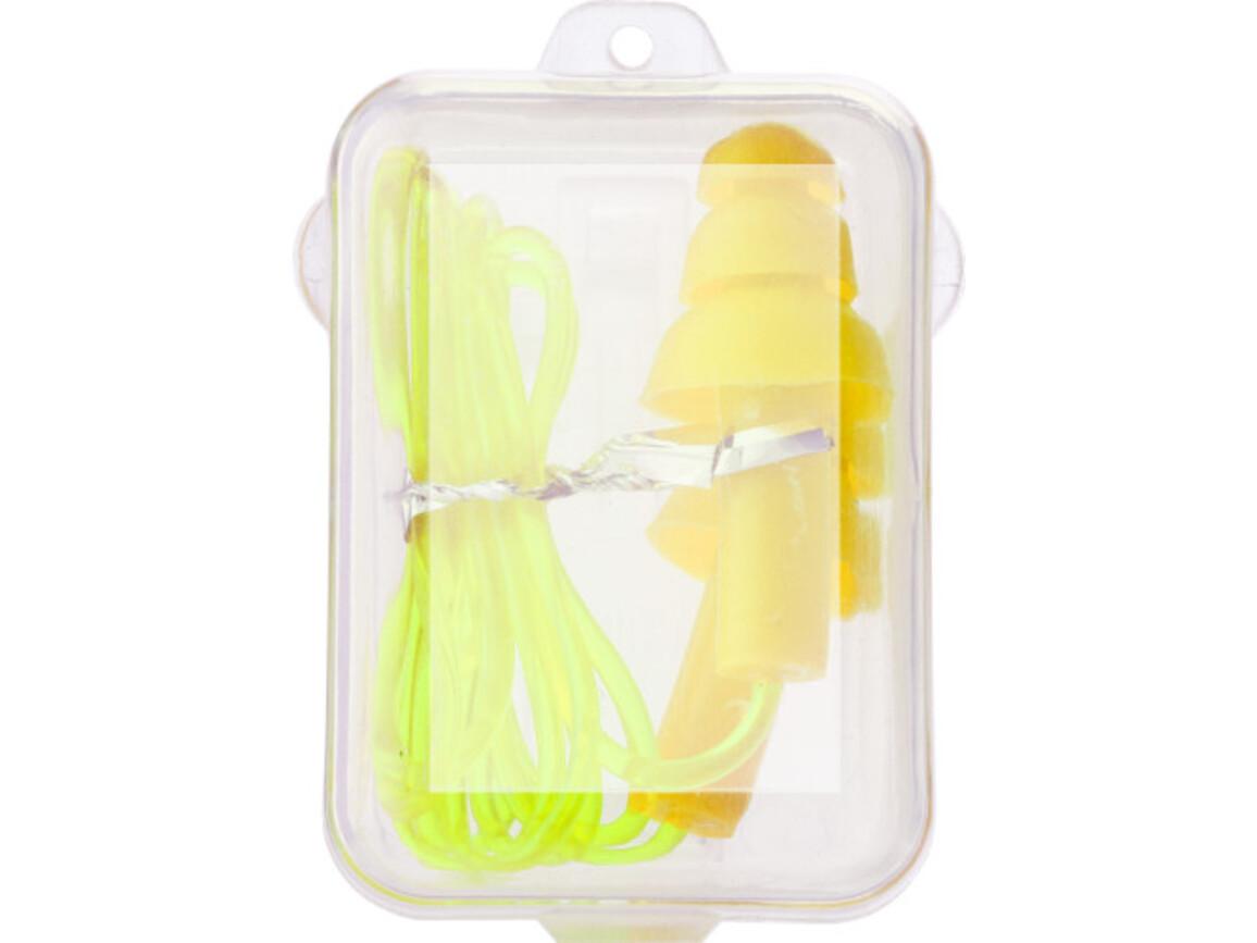 Ohrstöpsel 'Close' aus Kunststoff – Gelb bedrucken, Art.-Nr. 006999999_1837