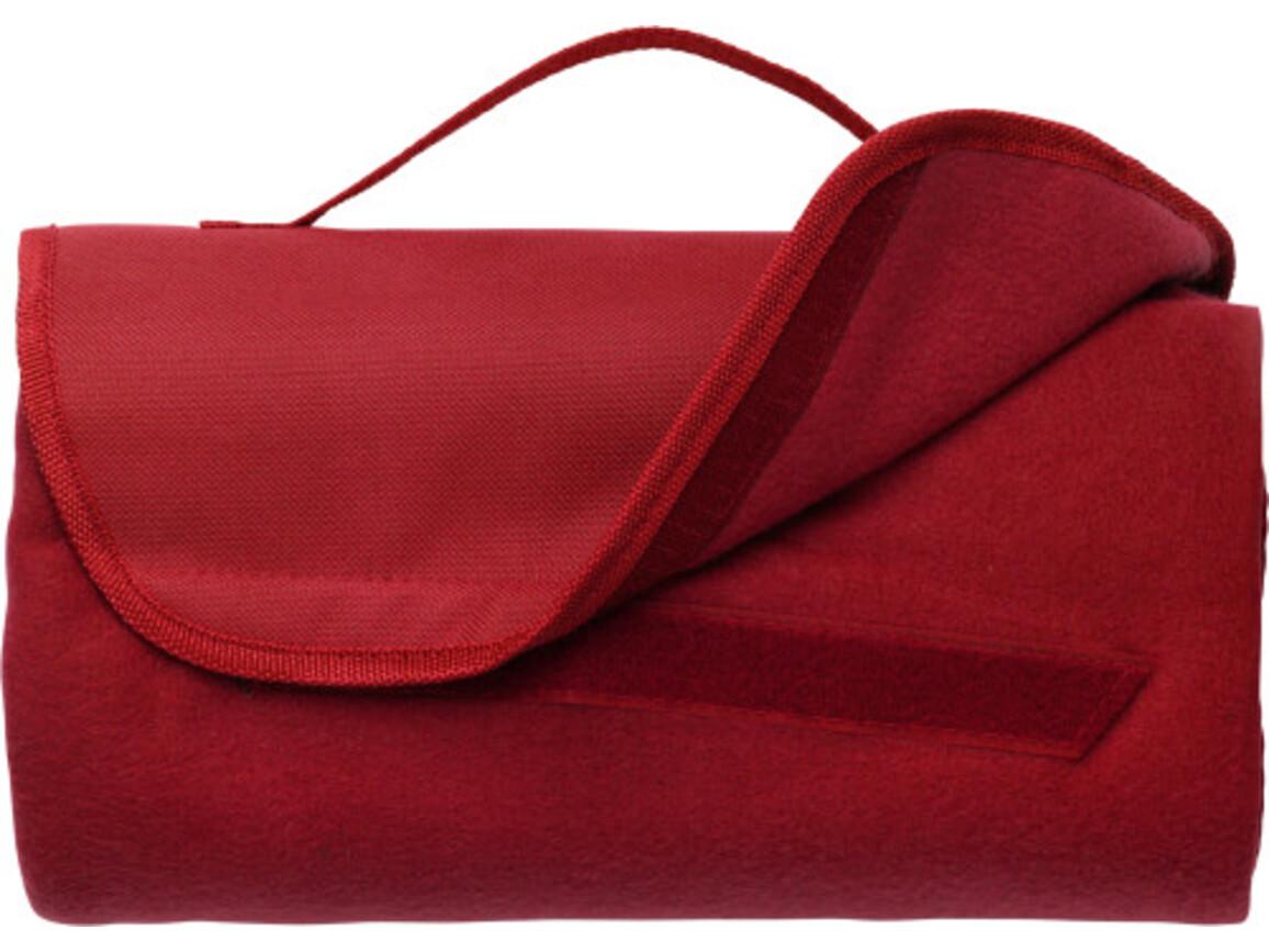 Fleece-Picknickdecke 'Basic' – Rot bedrucken, Art.-Nr. 008999999_1921