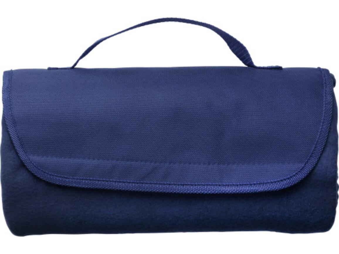 Fleece-Picknickdecke 'Basic' – Blau bedrucken, Art.-Nr. 005999999_1921