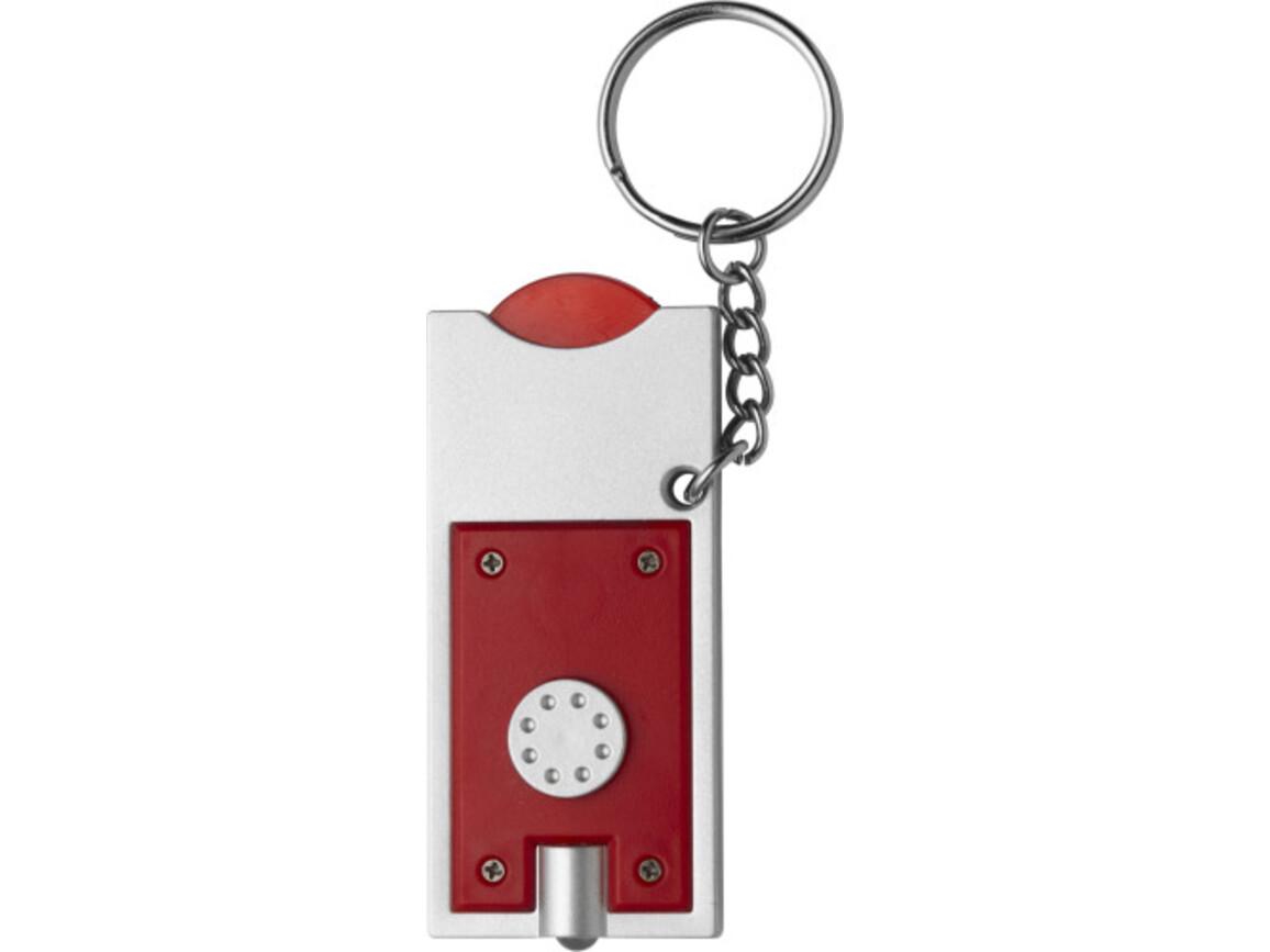 Schlüsselanhänger 'Spotlight' aus Kunststoff – Rot bedrucken, Art.-Nr. 008999999_1987
