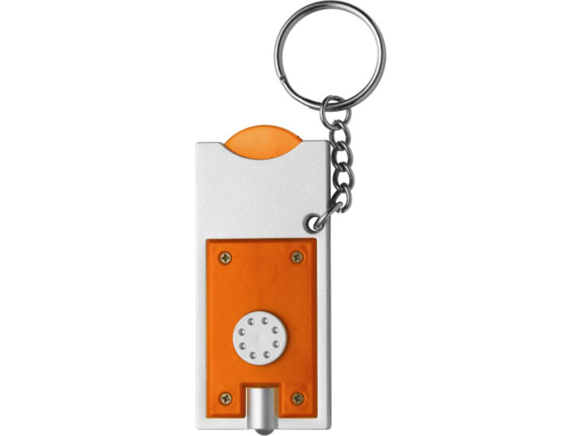 Schlüsselanhänger 'Spotlight' aus Kunststoff – Orange bedrucken, Art.-Nr. 007999999_1987