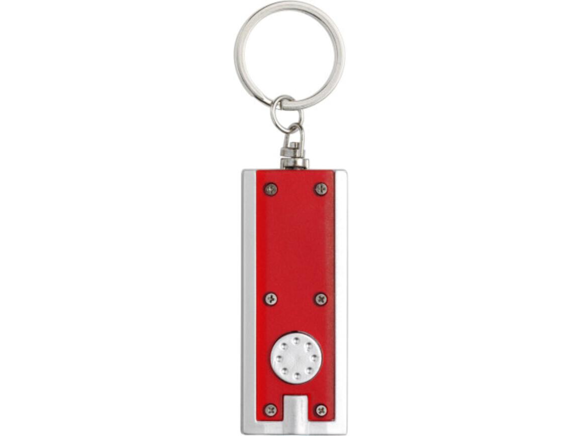 Schlüsselanhänger 'Key Largo' aus Kunststoff – Rot bedrucken, Art.-Nr. 008999999_1992