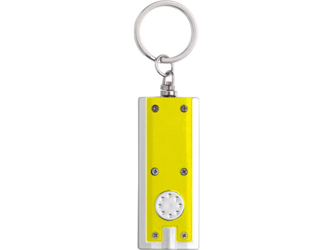 Schlüsselanhänger 'Key Largo' aus Kunststoff – Gelb bedrucken, Art.-Nr. 006999999_1992