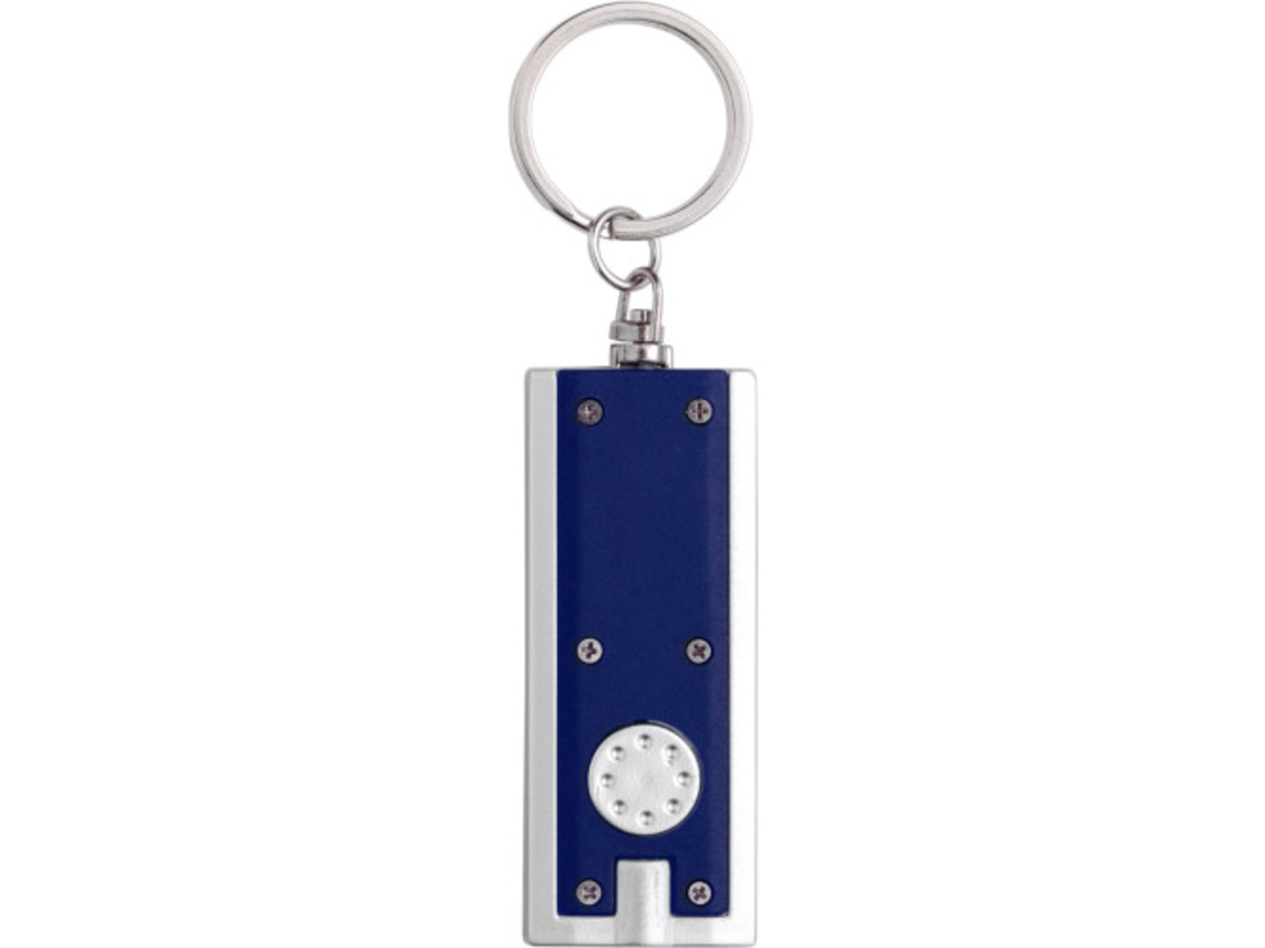 Schlüsselanhänger 'Key Largo' aus Kunststoff – Blau bedrucken, Art.-Nr. 005999999_1992