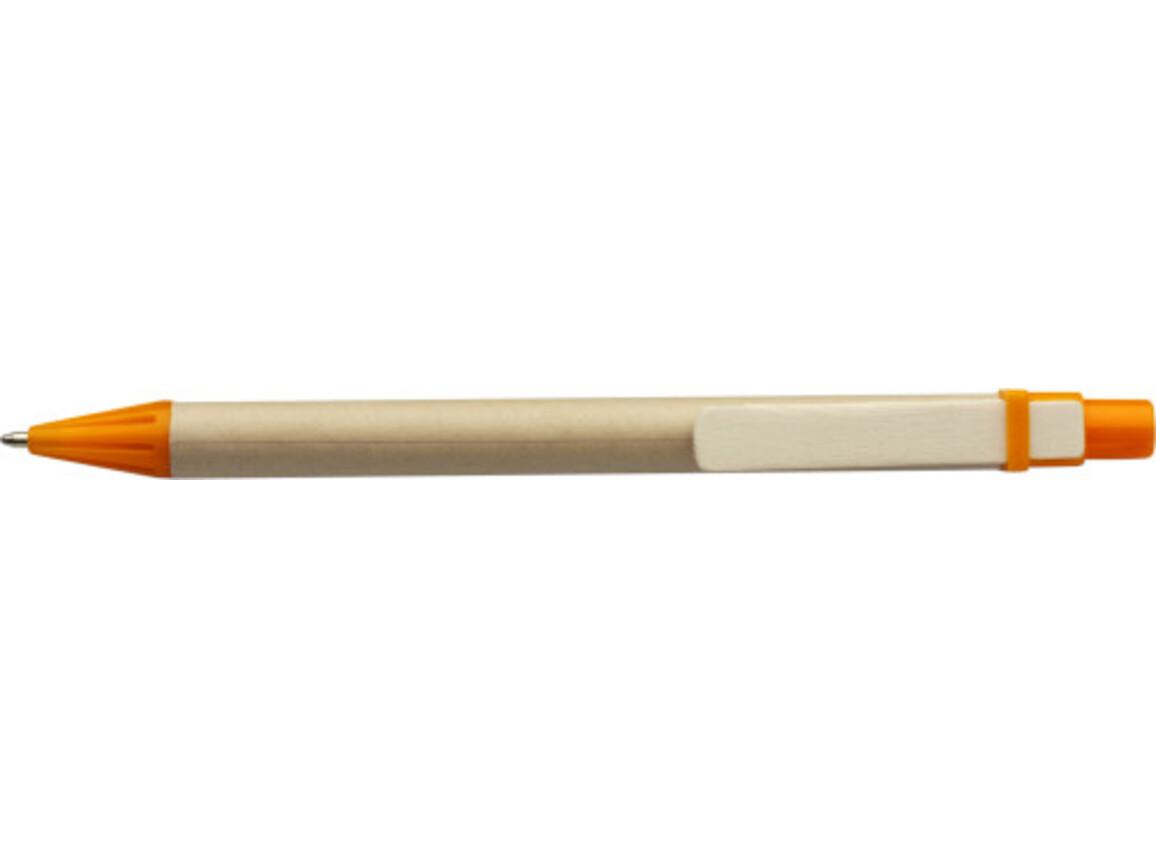 Kugelschreiber aus Pappe – Orange bedrucken, Art.-Nr. 007999999_2019