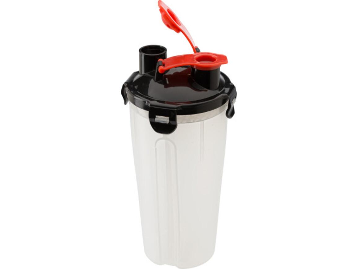 Proteinshaker 'Muscle' aus Kunststoff – Schwarz bedrucken, Art.-Nr. 001999999_2284