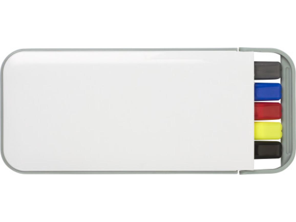 Schreibset 'Modern Life' aus Kunststoff – Weiß bedrucken, Art.-Nr. 002999999_2425