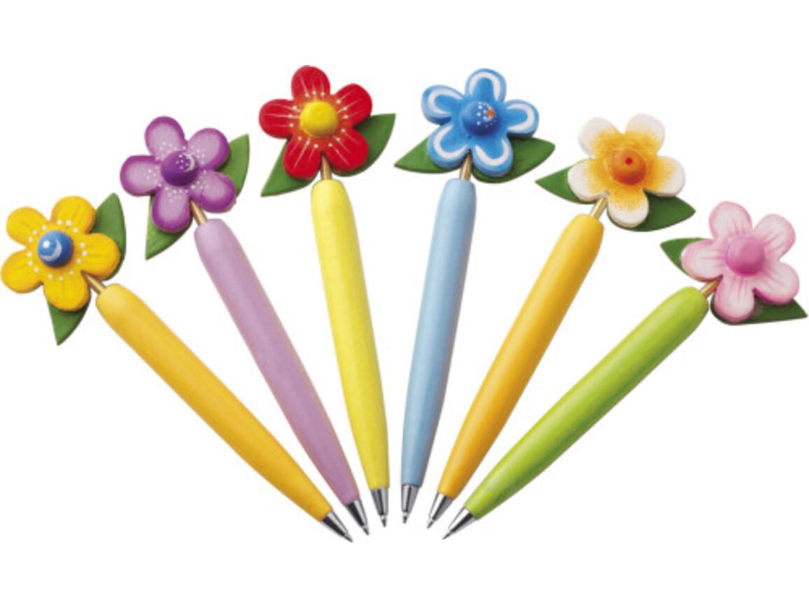 Kugelschreiber-Set 'Flower' – custom/multicolor bedrucken, Art.-Nr. 009999999_2478