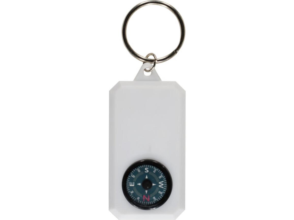 Schlüsselanhänger 'Robinson' aus Kunststoff – Weiß bedrucken, Art.-Nr. 002999999_2540