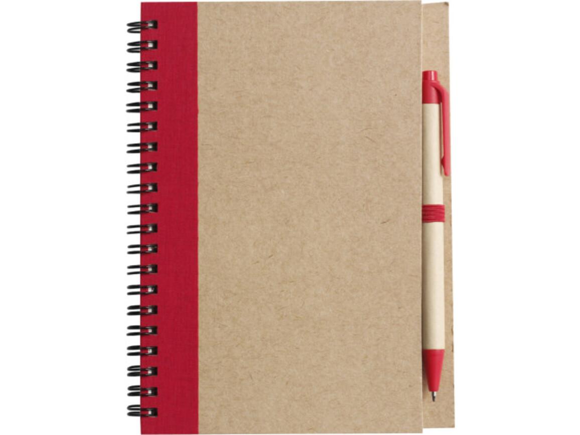 Notizbuch 'Freak' aus recyceltem Papier – Rot bedrucken, Art.-Nr. 008999999_2715