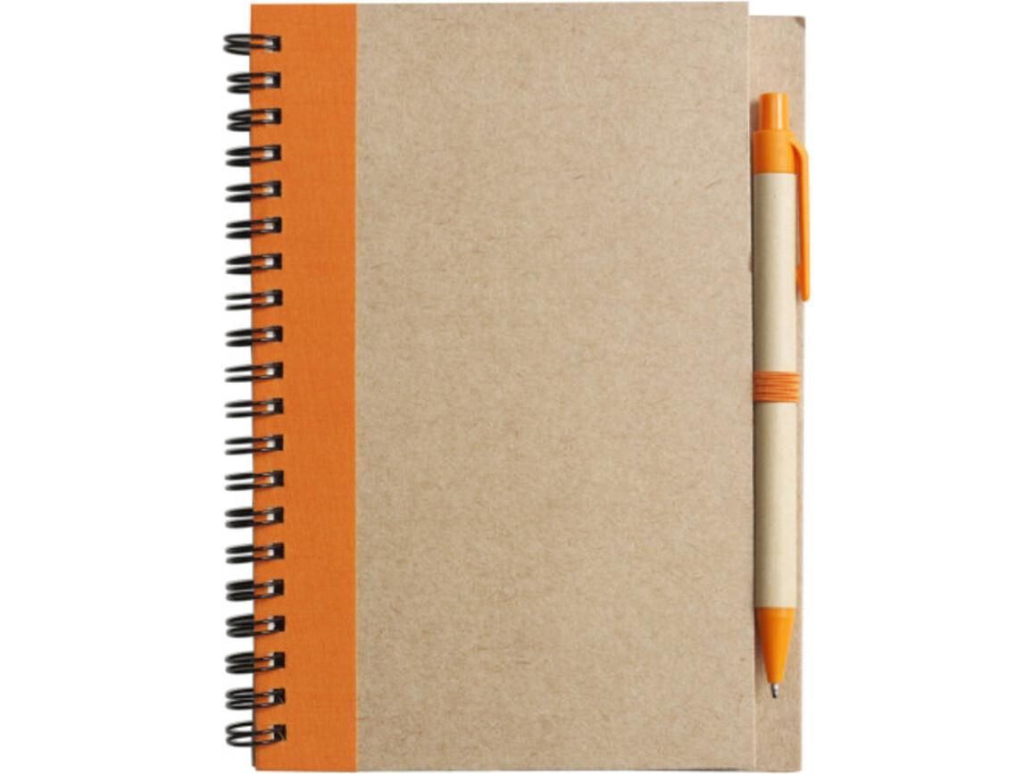 Notizbuch 'Freak' aus recyceltem Papier – Orange bedrucken, Art.-Nr. 007999999_2715
