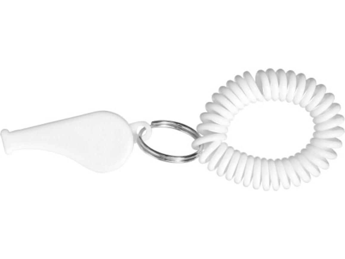 Trillerpfeife 'Pipe' mit Armband aus Kunststoff – Weiß bedrucken, Art.-Nr. 002999999_2724