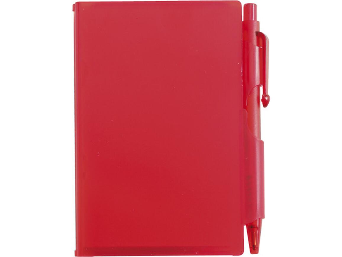 Notizbuch 'Agenda' aus Kunststoff – Rot bedrucken, Art.-Nr. 008999999_2736