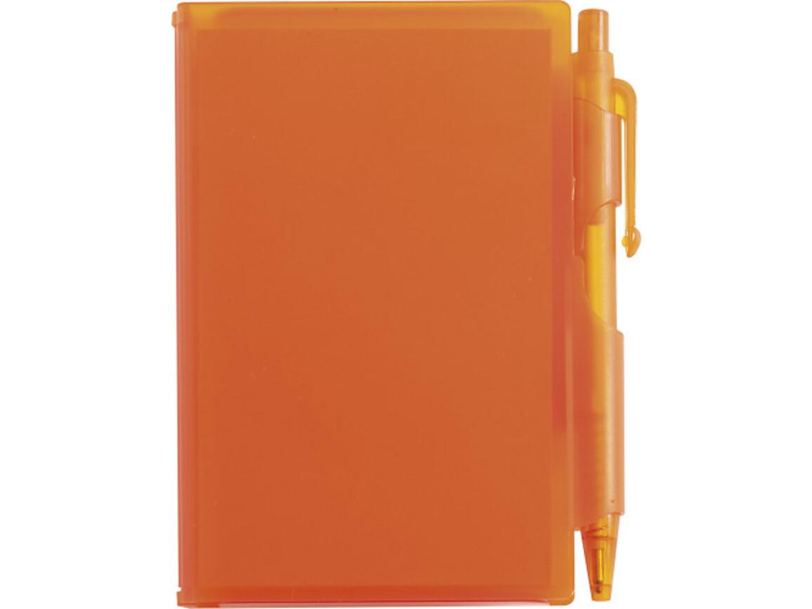 Notizbuch 'Agenda' aus Kunststoff – Orange bedrucken, Art.-Nr. 007999999_2736