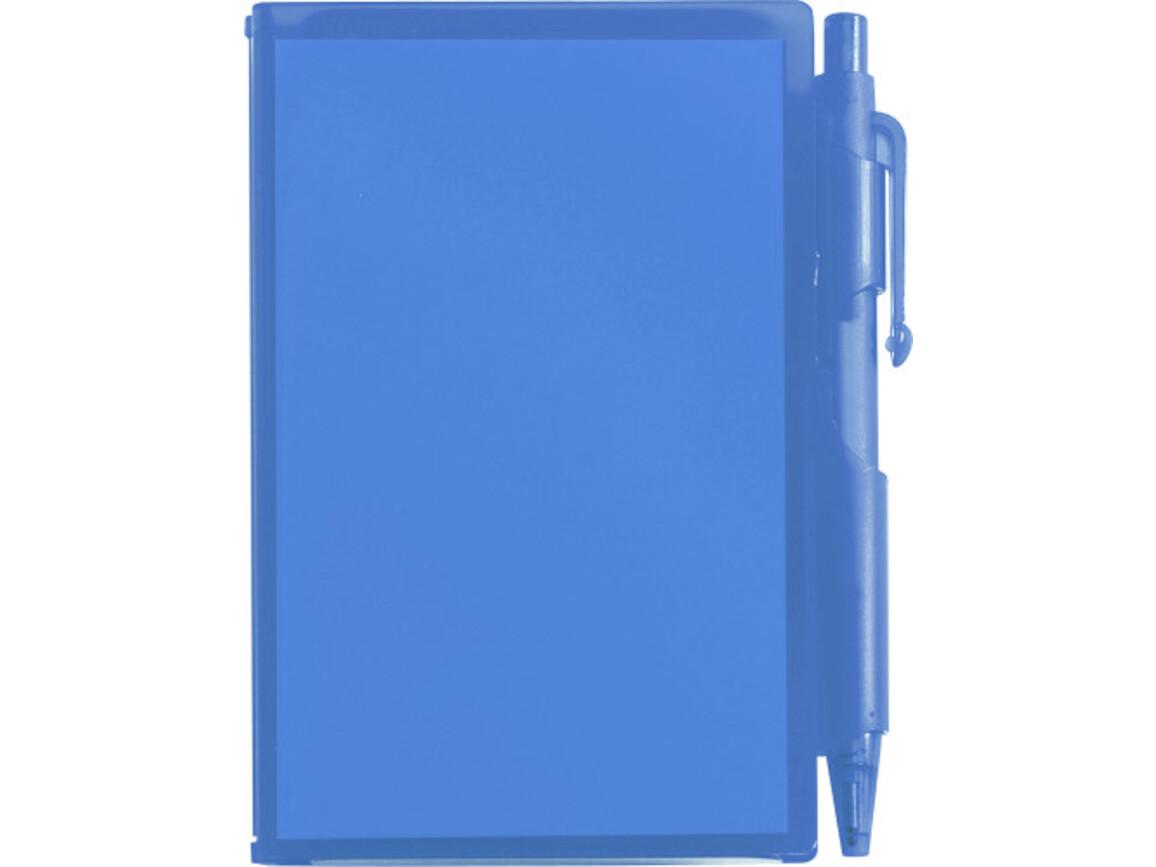 Notizbuch 'Agenda' aus Kunststoff – Blau bedrucken, Art.-Nr. 005999999_2736