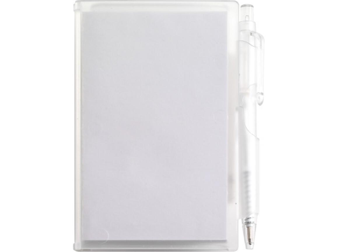 Notizbuch 'Agenda' aus Kunststoff – Weiß bedrucken, Art.-Nr. 002999999_2736