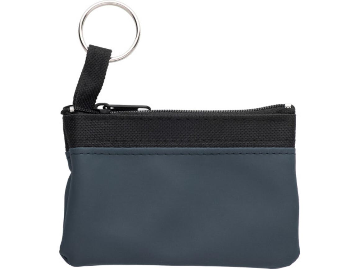 Schlüsseletui 'Zip' aus PU/Nylon – Blau bedrucken, Art.-Nr. 005999999_2758