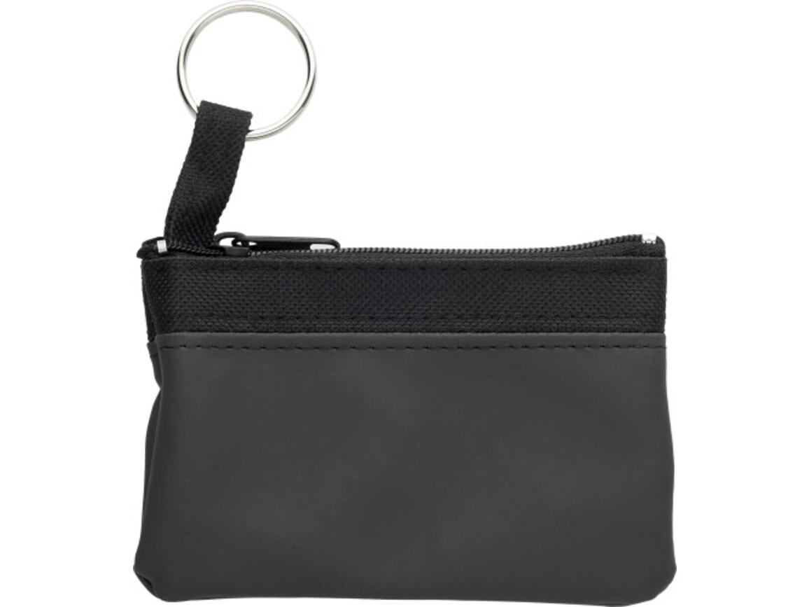 Schlüsseletui 'Zip' aus PU/Nylon – Schwarz bedrucken, Art.-Nr. 001999999_2758