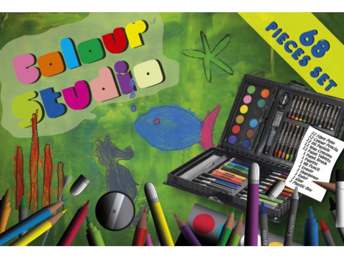 Kinder-Zeichenset 'Color-Studio' aus Kunststoff – custom/multicolor bedrucken, Art.-Nr. 009999999_2794