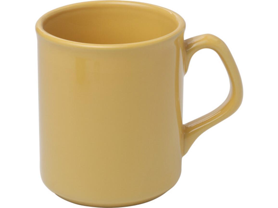 Becher 'Basic' aus Porzellan – Gelb bedrucken, Art.-Nr. 006999999_2834