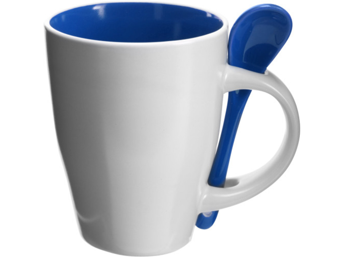 Becher 'Valentine' aus Keramik – Blau bedrucken, Art.-Nr. 005999999_2855